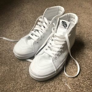 White Vans Sk8-Hi